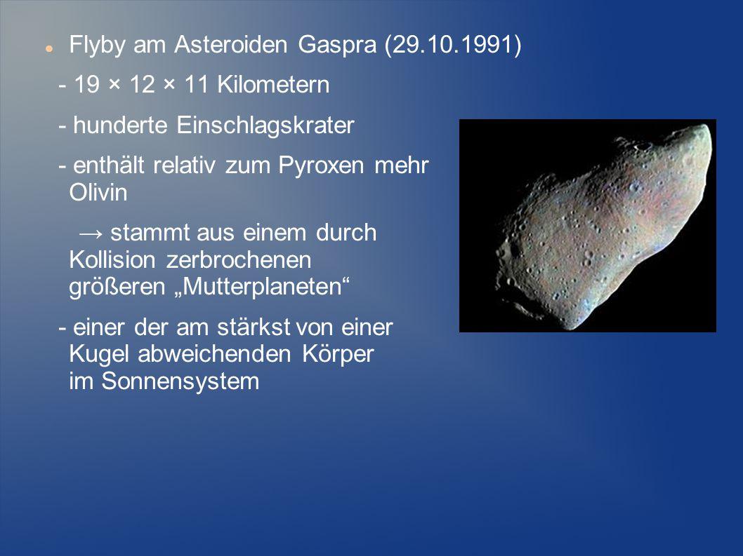 Flyby am Asteroiden Gaspra (29.10.1991)