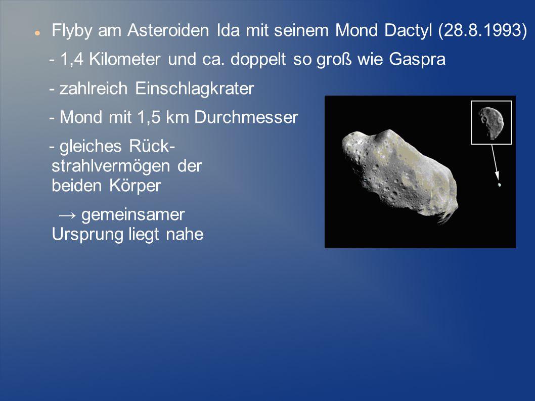 Flyby am Asteroiden Ida mit seinem Mond Dactyl (28.8.1993)