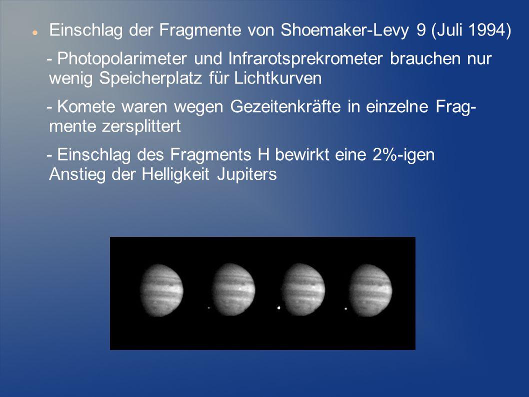 Einschlag der Fragmente von Shoemaker-Levy 9 (Juli 1994)