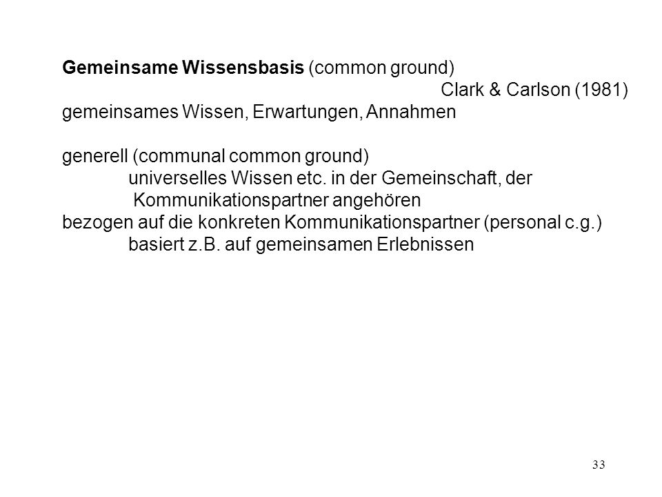 Gemeinsame Wissensbasis (common ground)