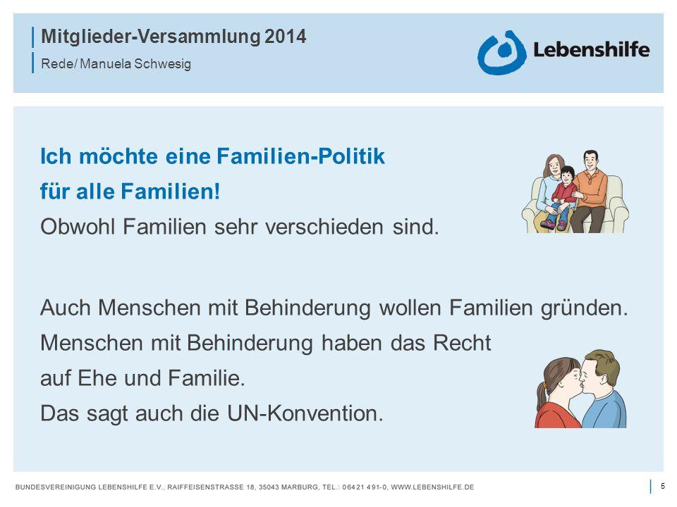 Ich möchte eine Familien-Politik für alle Familien