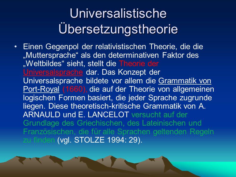 Universalistische Übersetzungstheorie