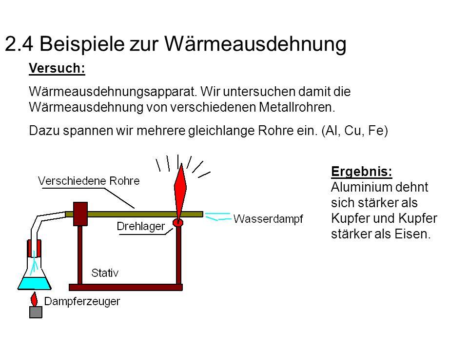 2.4 Beispiele zur Wärmeausdehnung