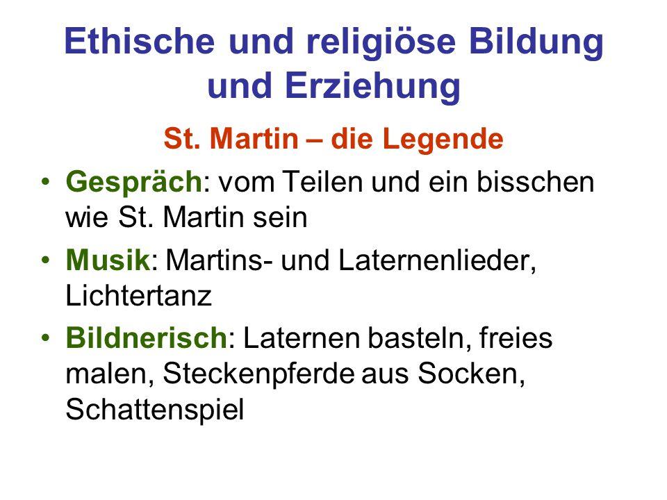 Ethische und religiöse Bildung und Erziehung