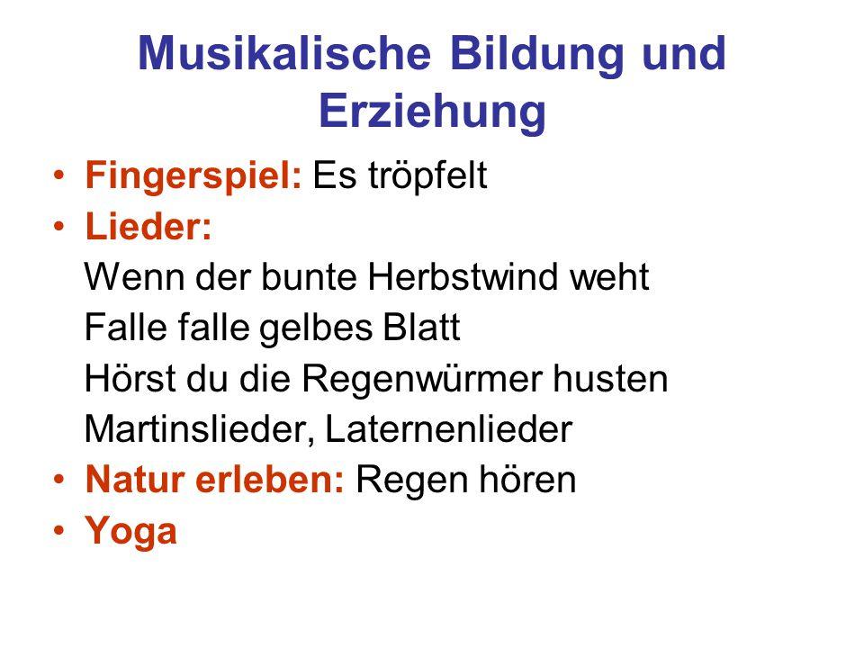 Musikalische Bildung und Erziehung