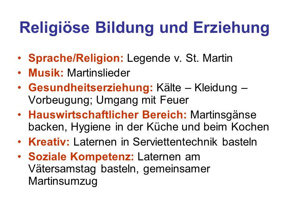 Religiöse Bildung und Erziehung