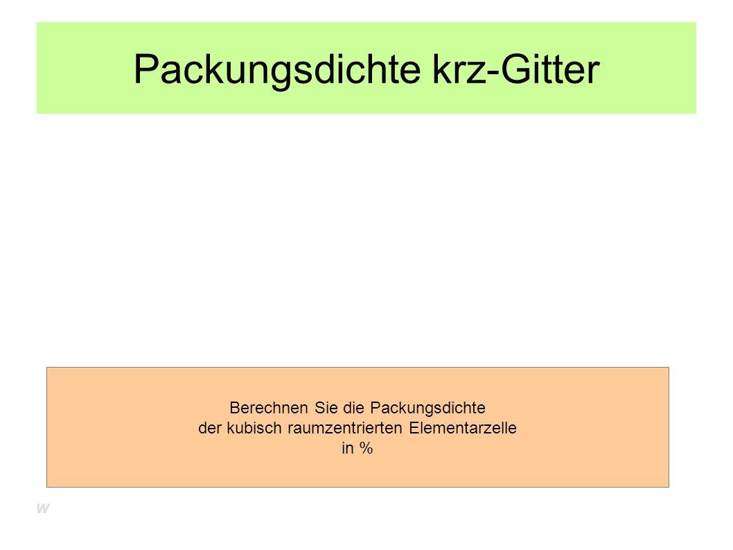 Packungsdichte krz-Gitter