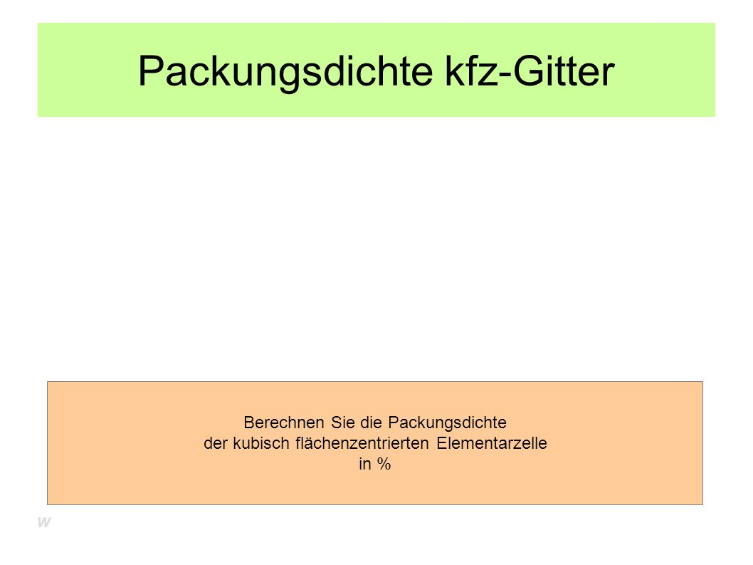 Packungsdichte kfz-Gitter