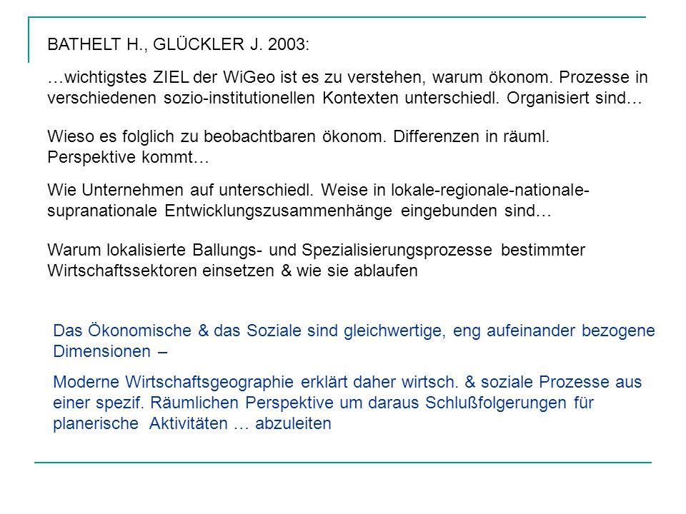 BATHELT H., GLÜCKLER J. 2003:
