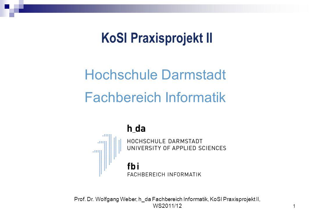 Hochschule Darmstadt Fachbereich Informatik