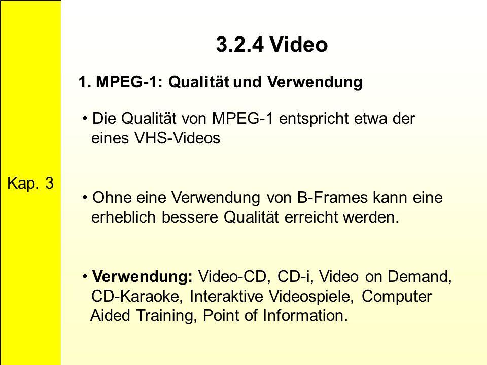 3.2.4 Video 1. MPEG-1: Qualität und Verwendung Kap. 3