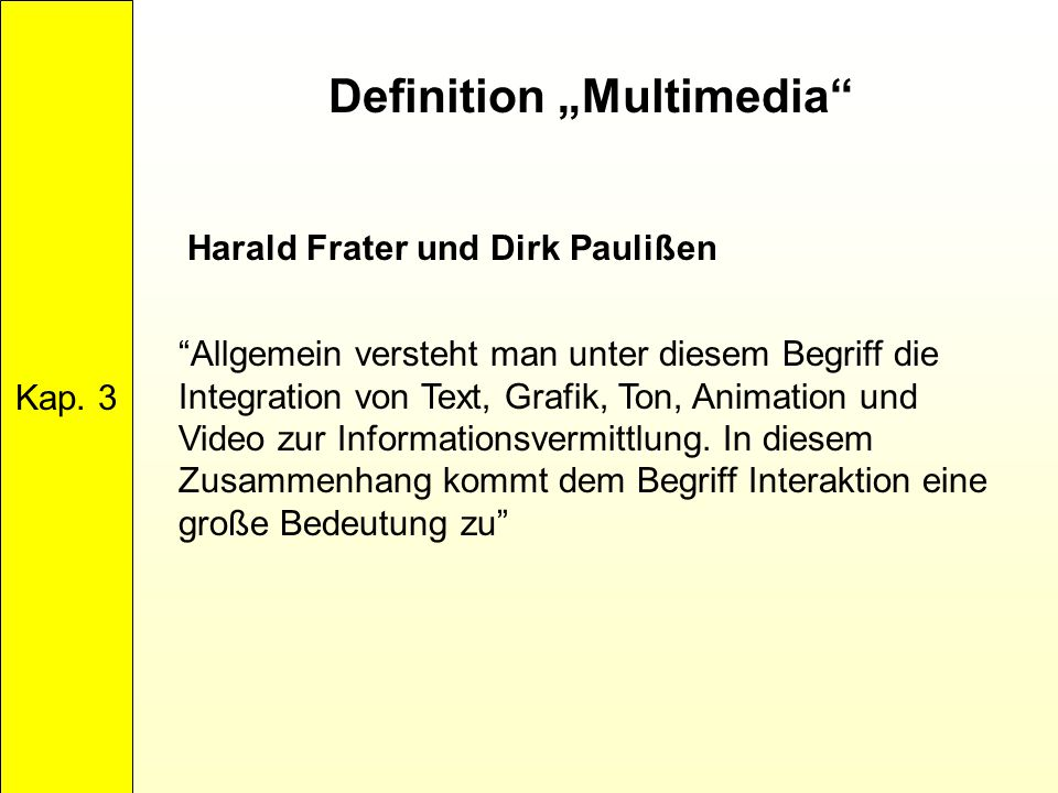 "Definition ""Multimedia"