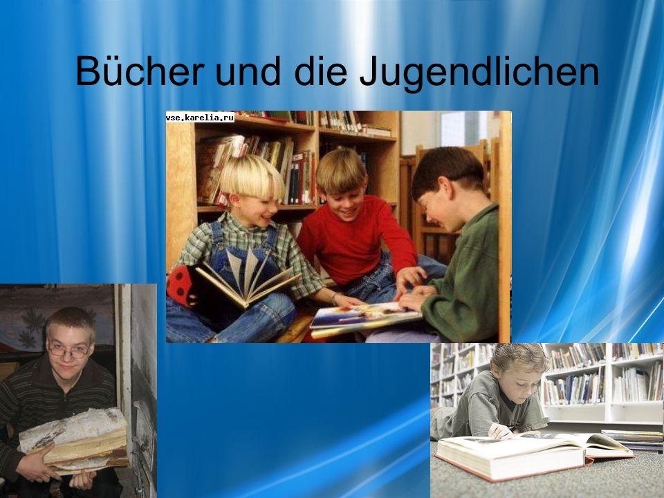Bücher und die Jugendlichen