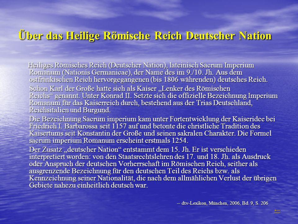 Über das Heilige Römische Reich Deutscher Nation