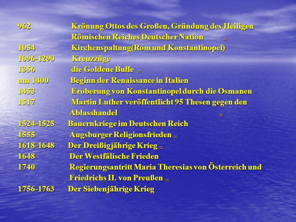 962 Krönung Ottos des Großen, Gründung des Heiligen