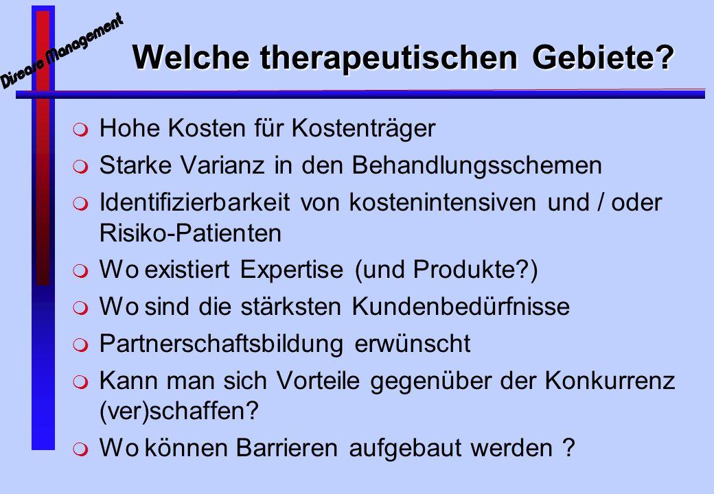 Welche therapeutischen Gebiete