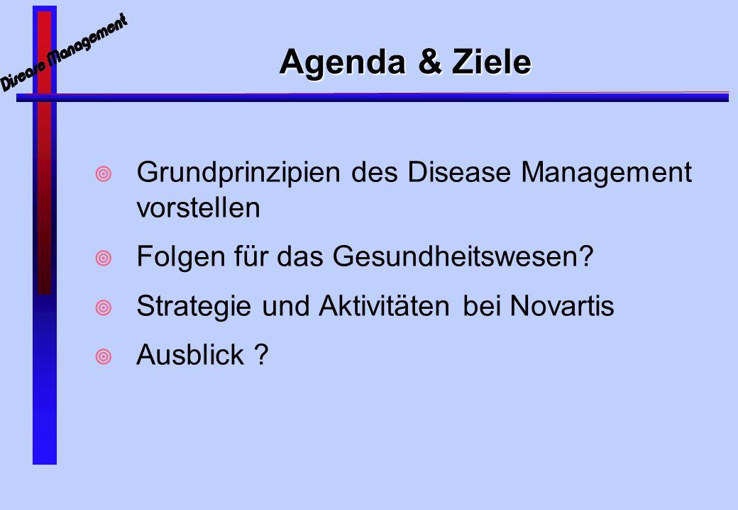 Agenda & Ziele Grundprinzipien des Disease Management vorstellen