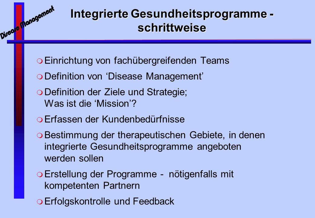 Integrierte Gesundheitsprogramme - schrittweise