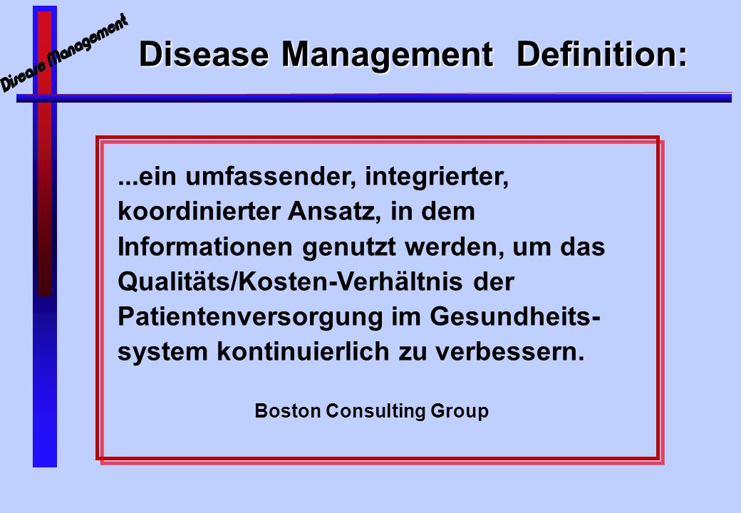 Disease Management Definition: