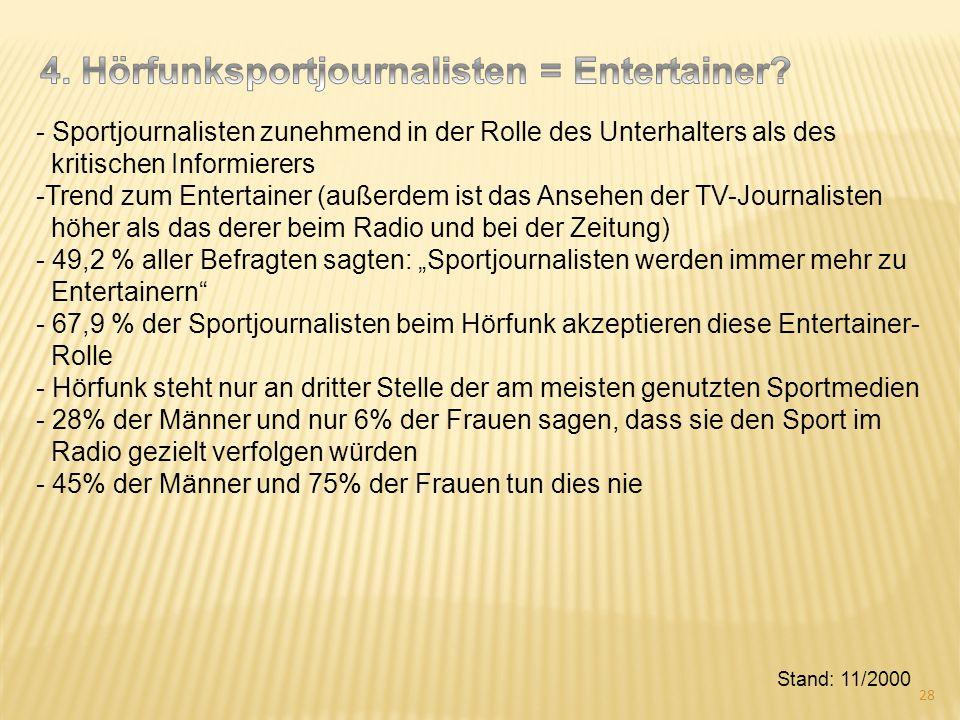 4. Hörfunksportjournalisten = Entertainer