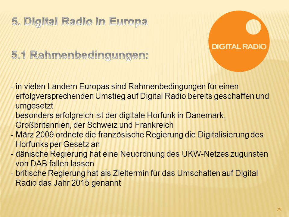 5. Digital Radio in Europa