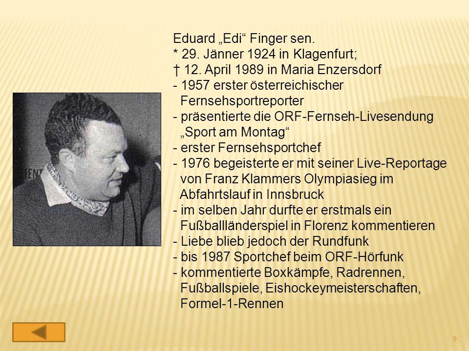 """Eduard """"Edi Finger sen."""