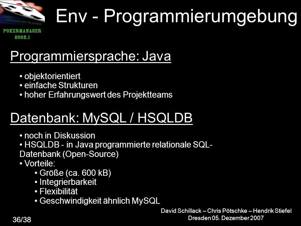 Env - Programmierumgebung