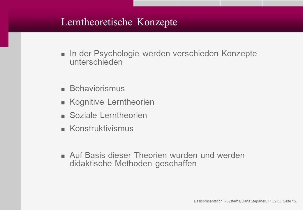 Lerntheoretische Konzepte