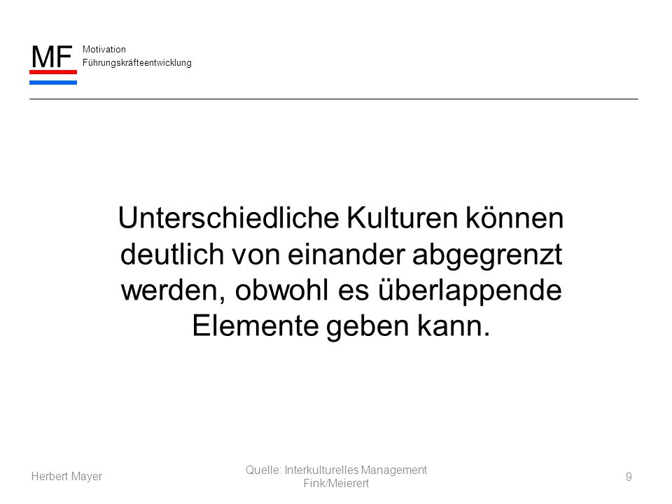 Quelle: Interkulturelles Management Fink/Meierert