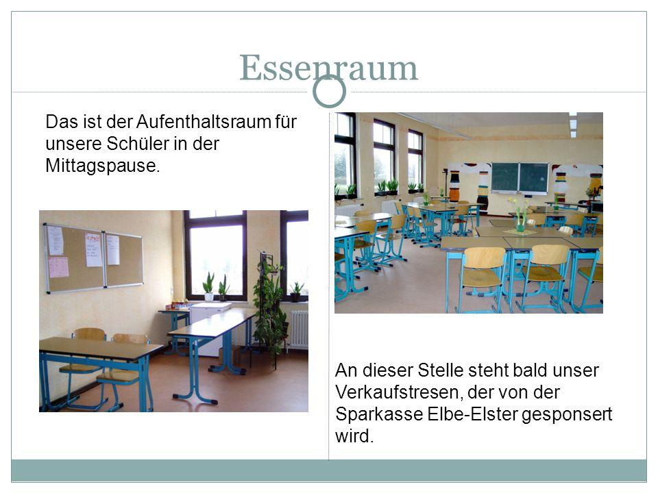Essenraum Das ist der Aufenthaltsraum für unsere Schüler in der Mittagspause.