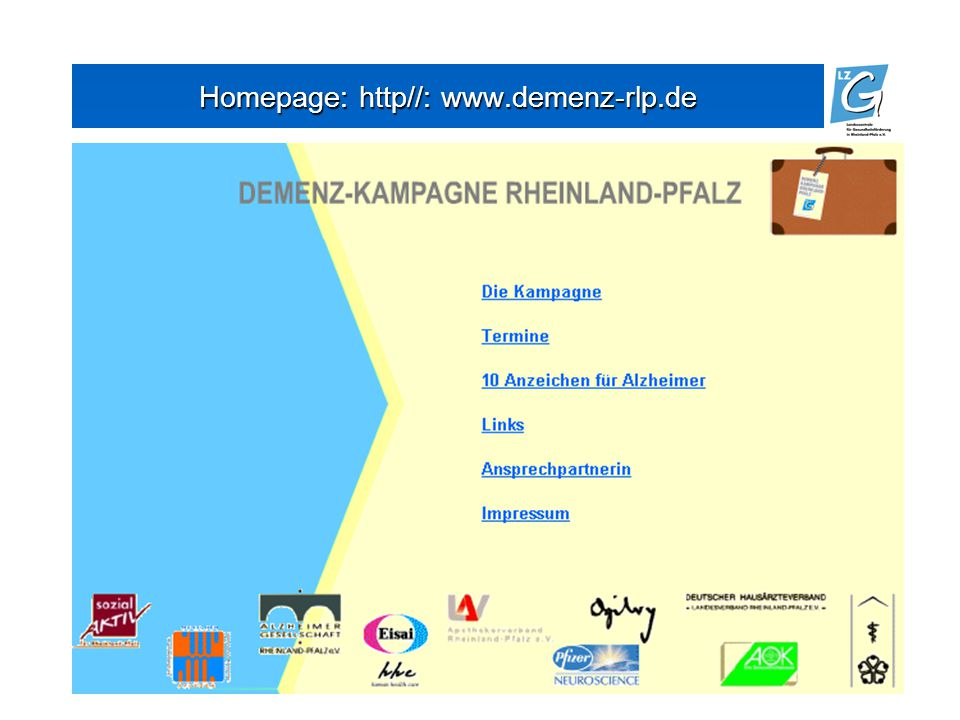 Homepage: http//: www.demenz-rlp.de