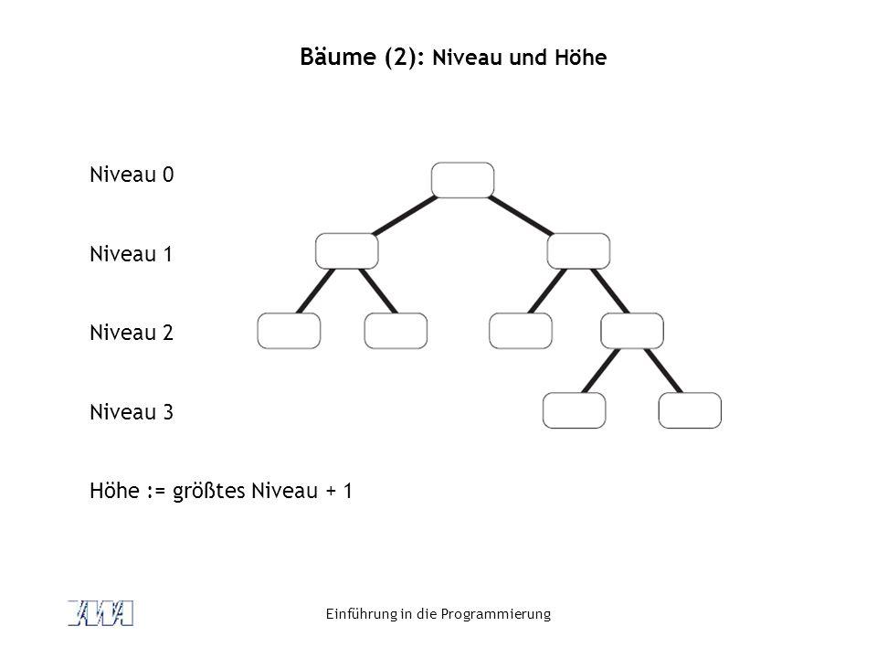 Bäume (2): Niveau und Höhe