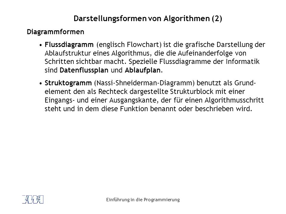 Darstellungsformen von Algorithmen (2)