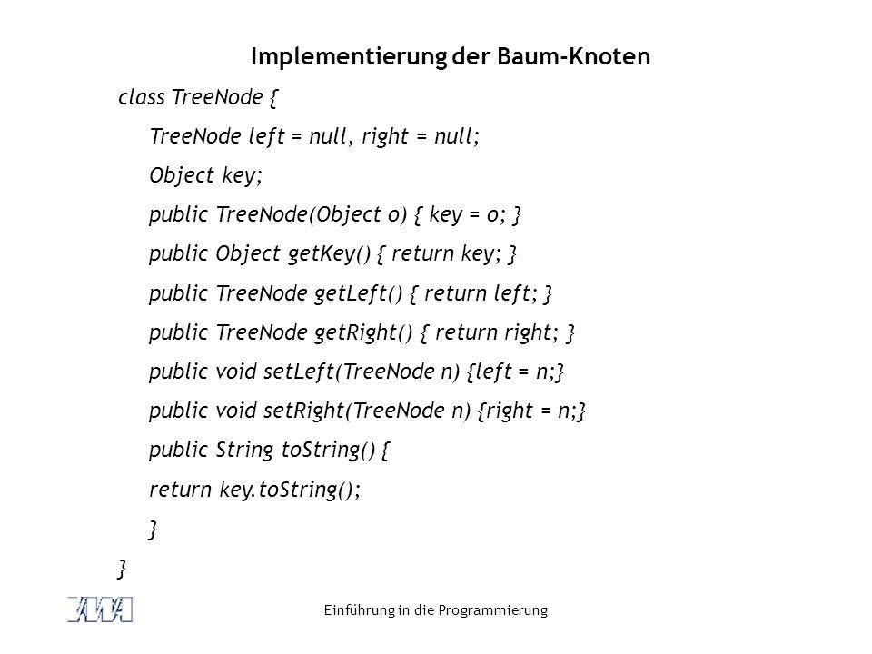 Implementierung der Baum-Knoten