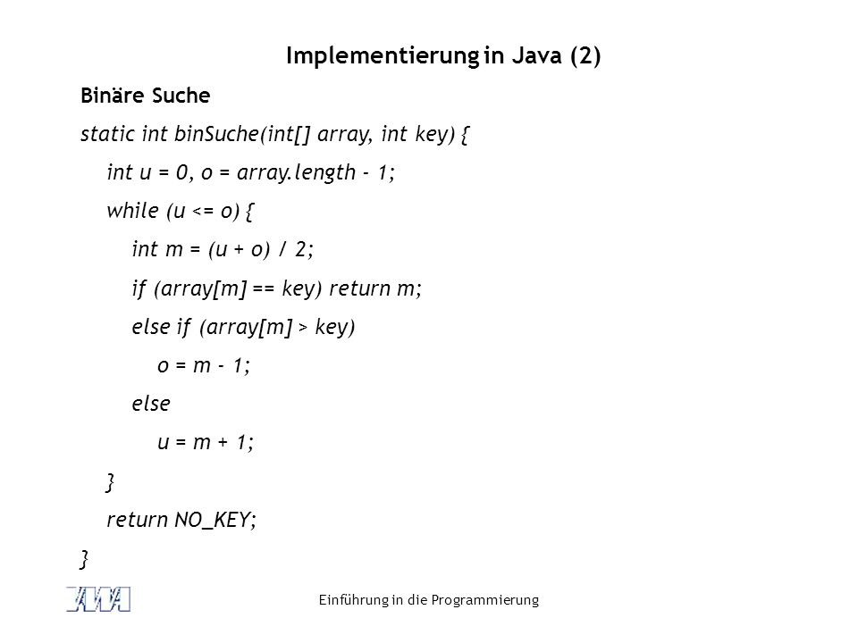 Implementierung in Java (2)