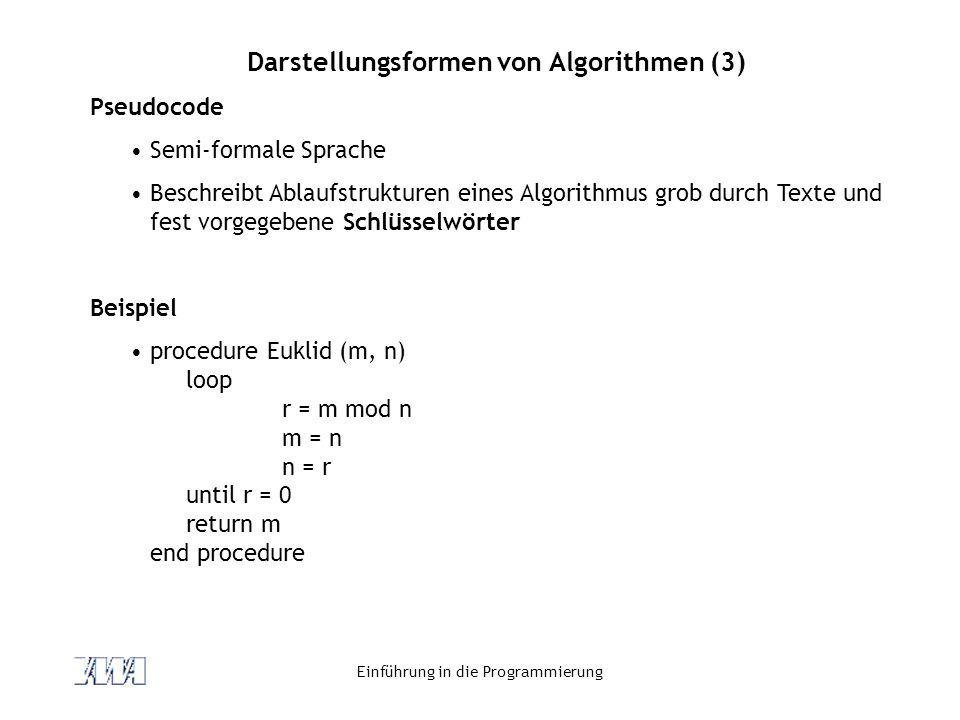 Darstellungsformen von Algorithmen (3)
