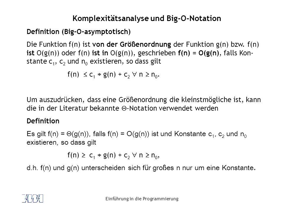 Komplexitätsanalyse und Big-O-Notation