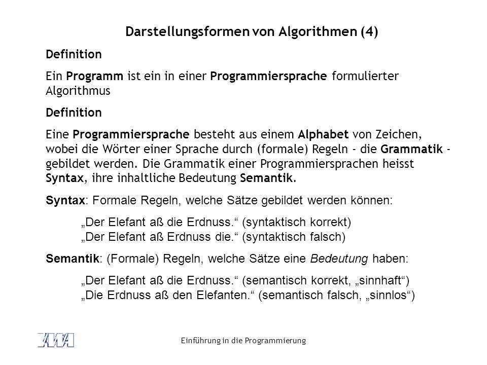 Darstellungsformen von Algorithmen (4)
