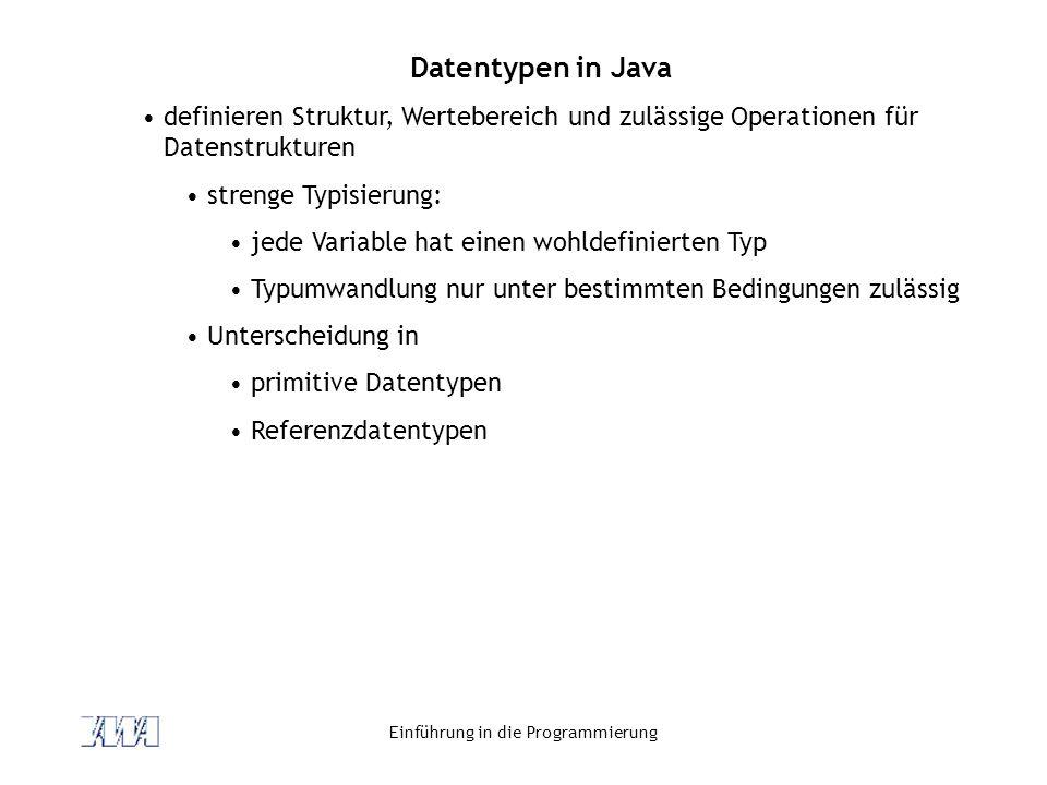 Einführung in die Programmierung