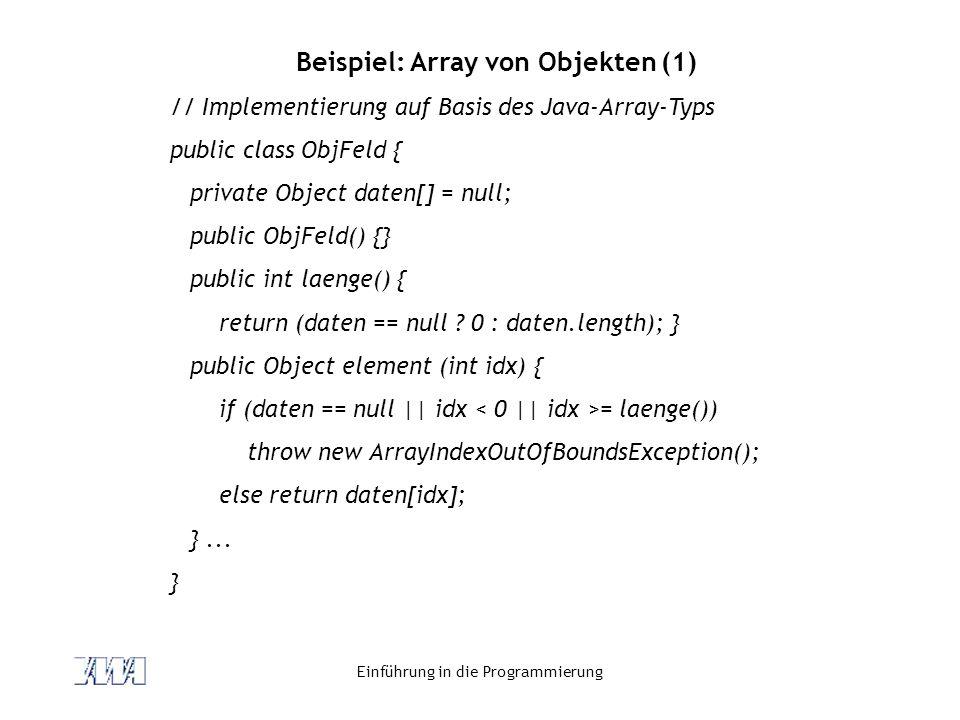 Beispiel: Array von Objekten (1)