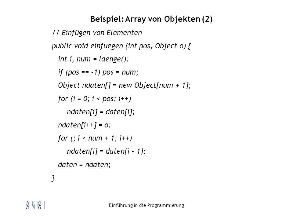 Beispiel: Array von Objekten (2)