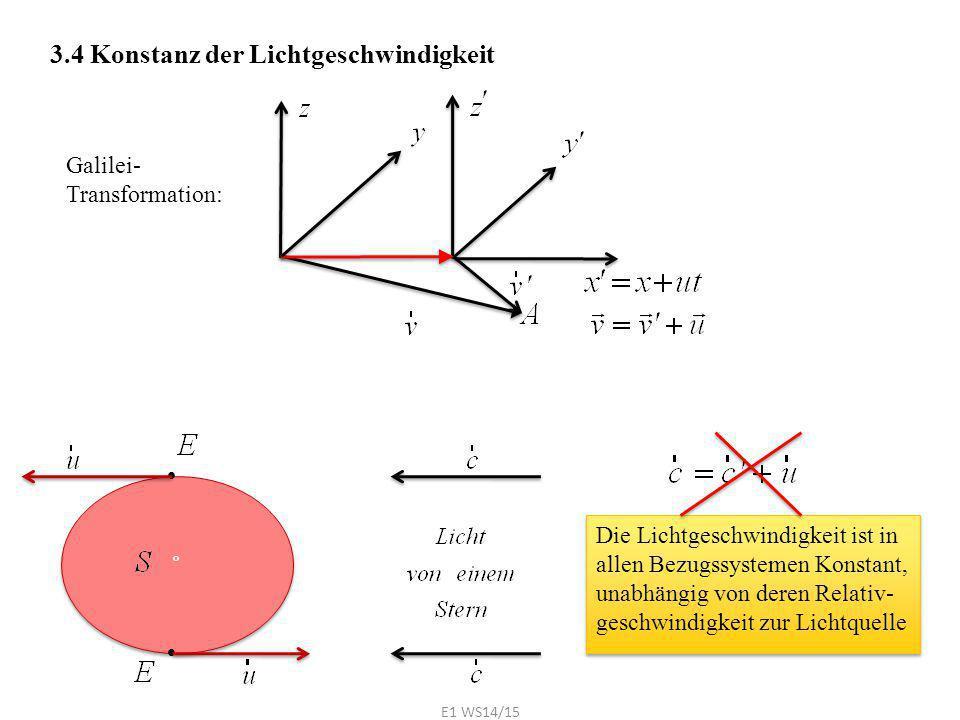 3.4 Konstanz der Lichtgeschwindigkeit