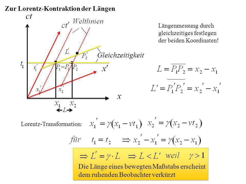   Gleichzeitigkeit Zur Lorentz-Kontraktion der Längen