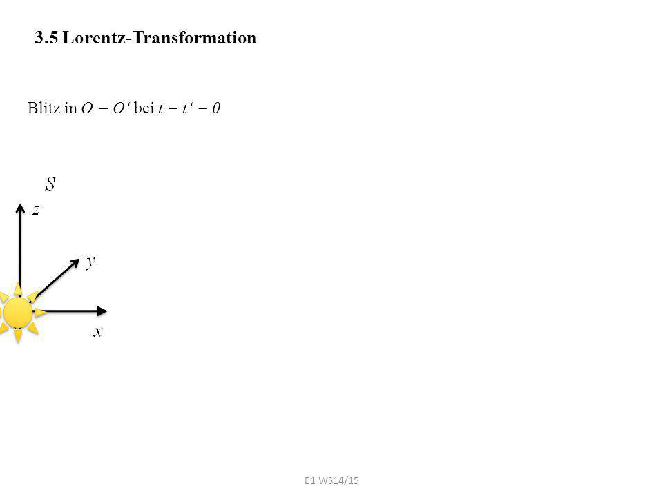 3.5 Lorentz-Transformation