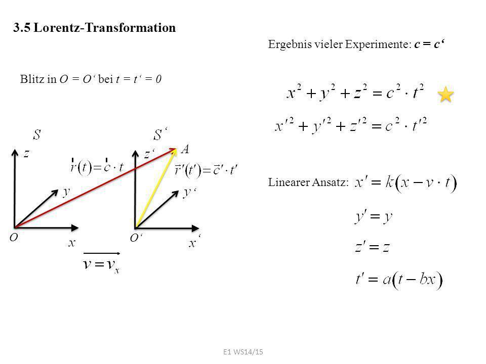 Ergebnis vieler Experimente: c = c'