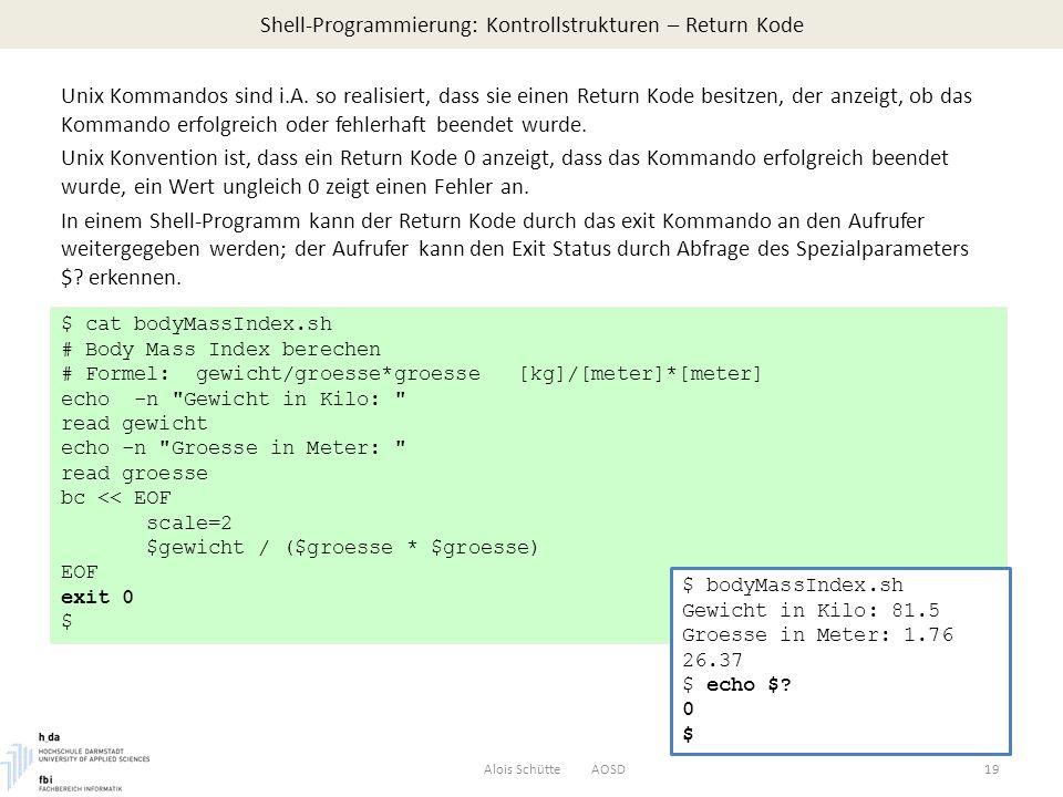 Shell-Programmierung: Kontrollstrukturen – Return Kode