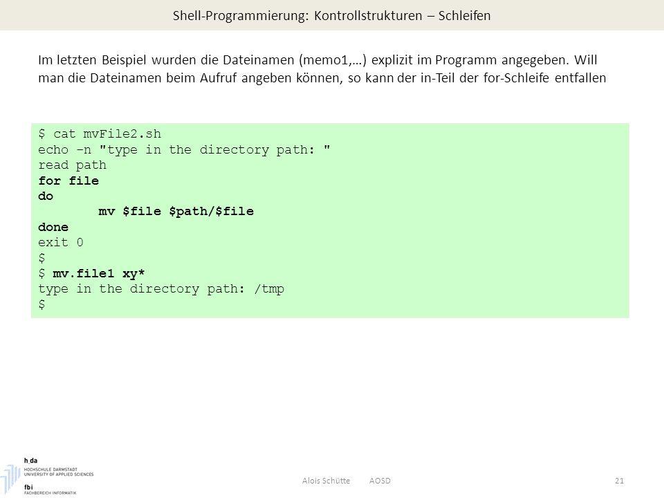Shell-Programmierung: Kontrollstrukturen – Schleifen