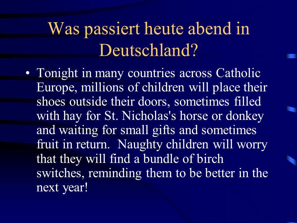 Was passiert heute abend in Deutschland