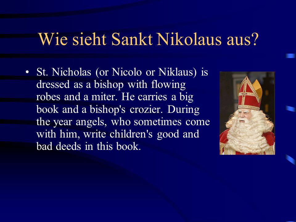 Wie sieht Sankt Nikolaus aus