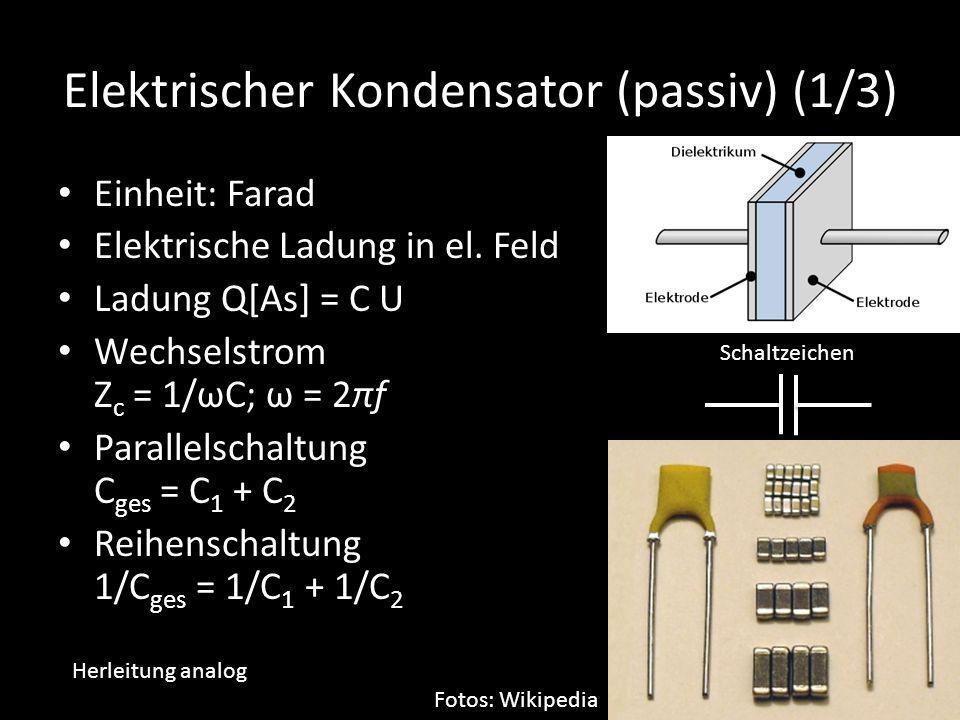 Elektrischer Kondensator (passiv) (1/3)
